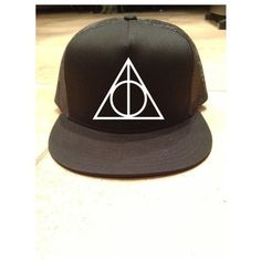 Harry Potter Snapback ❤ liked on Polyvore featuring accessories, hats, snap back hats e snapback hats