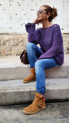 21459e4f404 Loose knit sweater womens pullover light knit pullover от EstherTg Casaco