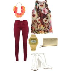"""floral love :)"" by mclucky16 on Polyvore"