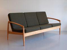 Paper Knife Sofa 3seat (black cherry x green) - Kai Kristiansen