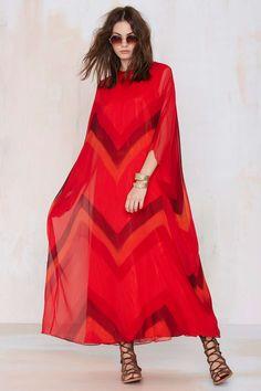 Vintage Felicity Chiffon Caftan Dress