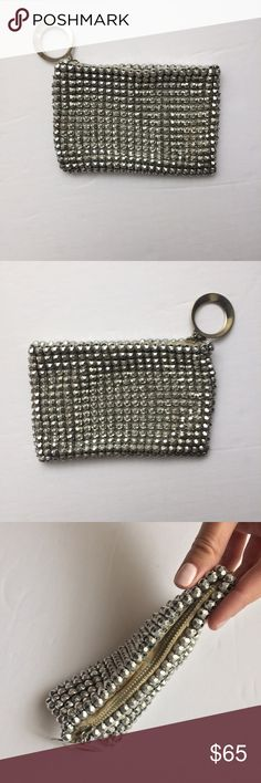 "HP❤Whiting & Davis Silver Metal Mesh Pouch Clutch Host Pick for Best in Bags 🎉Beautiful vintage Whiting and Davis pouch! Dark silver/ pewter metal mesh exterior in the signature Whiting and Davis metal mesh material. A silver round metal pull on the metal zipper top. Made by the high end vintage designer, Whiting and Davis Co. Made in USA. In great condition! 6"" x 4"" Whiting & Davis Co Bags Clutches & Wristlets"