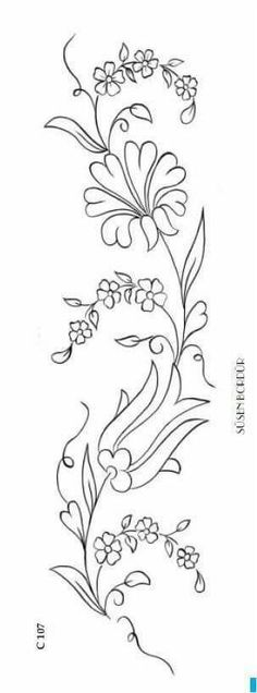 Embroidery Pattern from Rita B Crewel Embroidery, Hand Embroidery Patterns, Ribbon Embroidery, Cross Stitch Embroidery, Machine Embroidery, Bordado Tipo Chicken Scratch, Parchment Craft, Craft Patterns, Pyrography