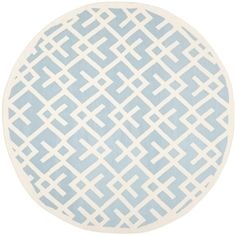 @Overstock.com - Moroccan inspired design and dense hand-woven wool pile highlight this handmade dhurrie rug. This floor rug has a light blue background and displays stunning panel color of ivory.http://www.overstock.com/Home-Garden/Safavieh-Moroccan-Light-Blue-Ivory-Dhurrie-Wool-Rug-6-Round/7401964/product.html?CID=214117 $148.99