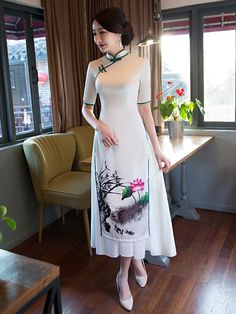 New Arrival Uoozee Traditional Fashion, Traditional Dresses, Cheongsam Dress, Kurta Designs, Ao Dai, Dream Dress, Fashion Dresses, Fashion Fashion, Runway Fashion