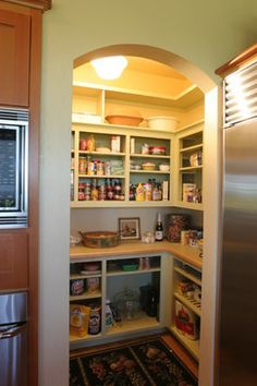Pantry Design Ideas white double doors for walk in pantry Small Pantry Design Ideas Pictures Remodel And Decor Page 8