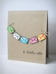 A Little Note Card plus 24 more Fun Handmade Cards  #RePin by AT Social Media Marketing - Pinterest Marketing Specialists ATSocialMedia.co.uk