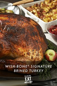 Wish-Bone® Signature Brined Turkey Easy Thanksgiving Recipes, Turkey Brine, Food Words, Cooking Instructions, Oven Cooking, Quick Easy Meals, Safe Food, Scriptures, Yummy Food