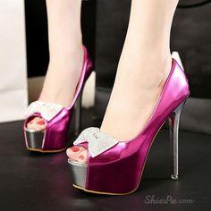 Shoespie Boetie Peep toe Stiletto Heel Platform Heels