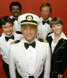 The Love Boat  -  Gavin MacLeod (Capt. Merrill Stubing)...Bernie Kopell (Doc Bricker)...Fred Grandy (Gopher Smith)...Ted Lange (Isaac Washington...Lauren Tewes (Julie McCoy, 1977-1984)...Jill Whelan (Vicki Stubbing, 1979-1986)...Ted McGinley (Ace Covington Evans, (1984-1986)...Pat Klous (Judy McCoy - 1984-1986)  -  ABC  -  1977-1986