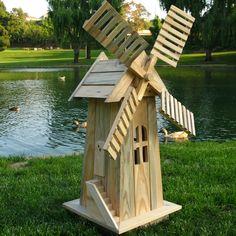 icu ~ American Windmill Lawn Ornament Cedar Wood Handcrafted Outdoor Yard Decor Garden in 2019 Diy Wood Projects, Outdoor Projects, Garden Projects, Woodworking Projects, Outdoor Decor, Outdoor Living, Wooden Windmill, Windmill Diy, Dutch Windmill