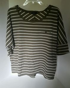 Women's One Step Up Nautical Striped White Gray Blouse Plus Size 2X   Clothing, Shoes & Accessories, Women's Clothing, Tops & Blouses   eBay!