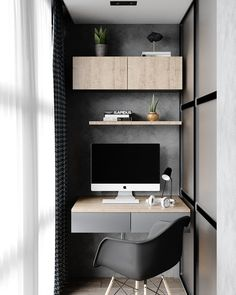 47 Turning Small Balcony into Home Office Ideas - Unique Balcony & Garden Decoration and Easy DIY Ideas Cheap Office Decor, Home Office Decor, Home Decor Bedroom, Cheap Home Decor, Office Ideas, Home Interior, Interior Design, Design Design, Interior Colors