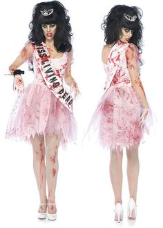 wow zombie putrid high school prom queen halloween costume day of the dead glee ebay - Pageant Girl Halloween Costume