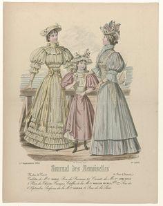 Journal des Demoiselles, 1 septembre 1894, No. 5005 : Toilettes de Mme Gradoz..., P. Deferneville, Falconer, 1894