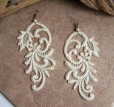 azalea lace earrings etsy.com, seller: stitchfromtheheart $20