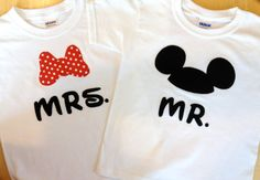 Disney Mr and Mrs  Set of Two  Mickey and by TwoByTuTuCreations, $48.00