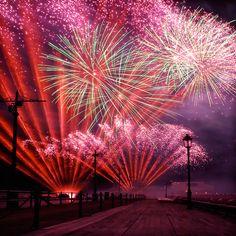 International Fireworks Dec. 31, 1999 The Second Millennium Since the Birth of Christ Closes.