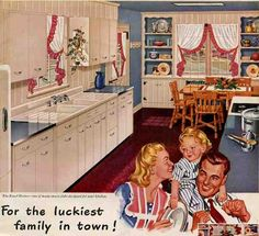 1946 Kitchen example from a great blog full of ideas on how to preserve or restore your retro home.