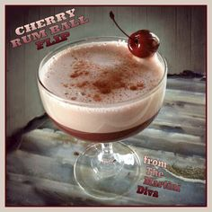 Like Cherries? How about Rum? The CHERRY RUM BALL Flip Cocktail. Can you guess the secret ingredient? Click image for recipe!