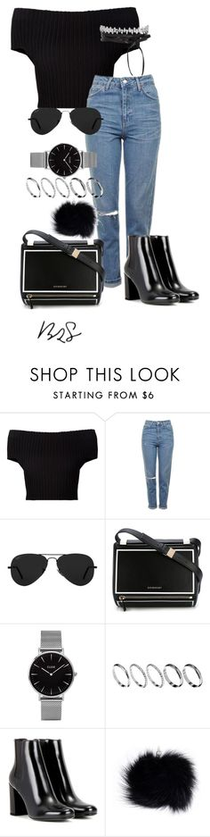 """#753"" by blendingtwostyles ❤ liked on Polyvore featuring Calvin Klein Collection, Topshop, Ray-Ban, Givenchy, ASOS and Yves Saint Laurent"
