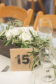 Rustic Charm | Table Numbers | See the wedding on #SMP Weddings: http://www.stylemepretty.com/little-black-book-blog/2013/12/26/holman-ranch-wedding/ Photography: Carlie Statsky Photography