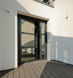 Porte d 39 entr e acier contemporaine mi vitr e materiaux pinterest design entr es et impalas - Verriere dak ...