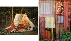 Bridge to Terabithia.   Some scarfs and fabrics and you have a magic tent.