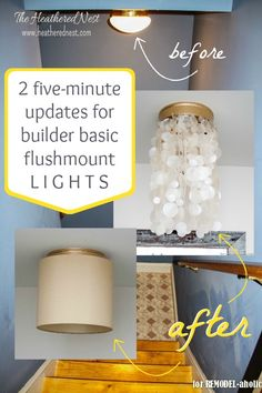 easy lighting handmade didnt know other people called these boob lights too super easy ways to update basic flushmount light fixtures 325 best lighting images in 2018 fixtures farmhouse