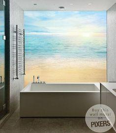 Afbeeldingsresultaat voor watervast behang badkamer | inspiring ...