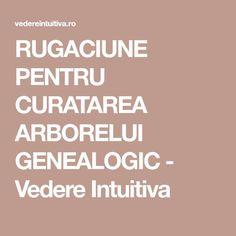 RUGACIUNE PENTRU CURATAREA ARBORELUI GENEALOGIC - Vedere Intuitiva Detox, Calm, Places, Lugares