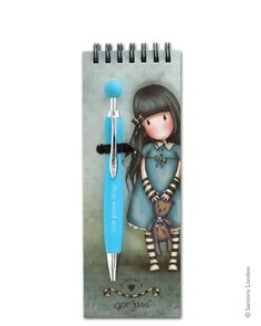 Gorjuss Jotter Pad with Pen - Forget Me Not