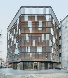dia architecture remodels dogok office with transparent steel façade