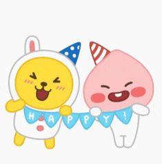 Blog 이미지 뷰어 Apeach Kakao, Friends Gif, Kakao Friends, Character Wallpaper, Cute Doodles, Gifs, Kawaii Drawings, Kawaii Cute, Emoticon