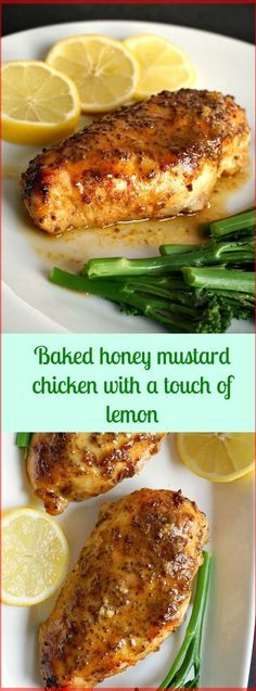 Baked Honey Mustard Chicken With a Touch Of Lemon   Special Cuisine Recipes