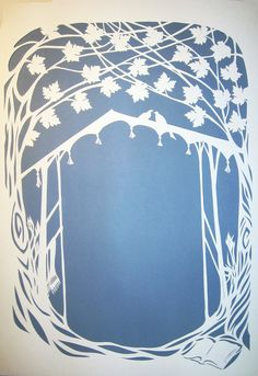 Chuppah under the Maples Ketubah - handcut papercut wedding artwork - ketuba - jewish marriage contract - calligraphy.