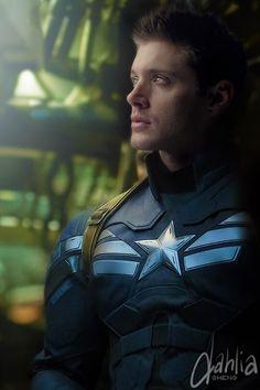 Dean as Captain America by dahliasheng.deviantart.com on @DeviantArt