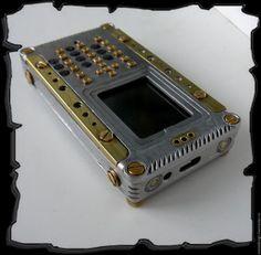 Стимпанк ручной работы. Ярмарка Мастеров - ручная работа. Купить Телефон в стиле стимпанк (кнопочный, две сим). Handmade. Латунь