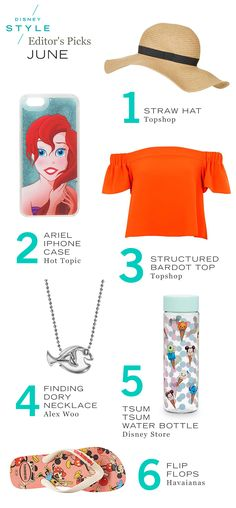 Disney Style June Editor's Guide | Shopping | The Little Mermaid + fashion + jewelry | [ https://style.disney.com/shopping/2016/06/02/june-editors-guide-2/ ]