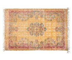 Ozdobny dywan z lekkimi kwiatowymi wzorami