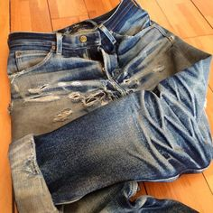 """Day 1173 - by Nudie Jeans, Lee Jeans, Denim Jeans Men, Denim Shirts, Edwin Jeans, Raw Denim, Mens Casual Jeans, Destroyed Jeans, Denim Fashion"