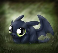 Toothless, chibi stats. possibly my next tattoo. so. cute. *squee*