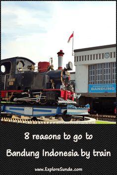 #TrainTravel | #TripToBandungIndonesia | 8 Reasons Why The Train Trip to Bandung Indonesia is The Best | #ExploreSunda.com Train Trip, Train Travel, Rainbow Waterfall, Train Tickets, Five Star Hotel, By Train, Top Destinations, Surabaya, Train Station