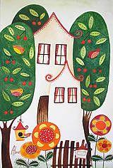 Kresby - Rozkvitnutý domov - 6311640_