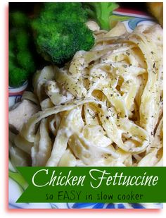 Slow Cooker Chicken Fettuccine Recipe - I wonder if I can make this gluten free, sounds yummy!!