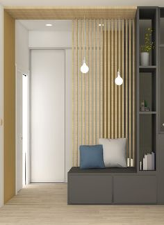 the – charm – dune – canopy – development – decoration – lyon – oullins – renovation – works – architecture – apartment – agency – lanoe – marion Living Room Partition, Room Partition Designs, Living Room Designs, Living Room Decor, Interior Architecture, Interior Design, House Entrance, Entrance Hall, Apartment Interior