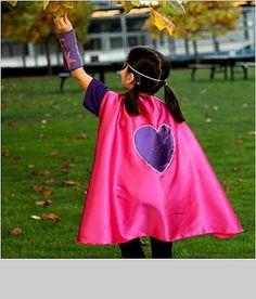 Kids Superhero Costume With Custom Superhero Cape, Shirt, Blaster Cuffs and Mask via Etsy