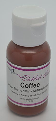 Tickled Pink Airbrush Aloe Foundation  Coffee 1OZ >>> You can find out more details at the link of the image.