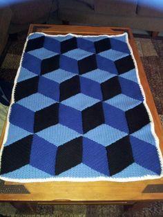 3D crochet baby blanket/afghan