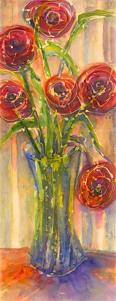 Chicago Watercolor Paintings | Chicago Mixed Media | Chicago Batik Artist | Anne F Hanley